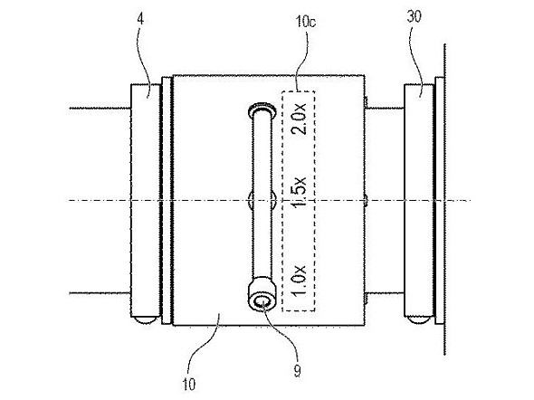 canon variable teleconverter patent